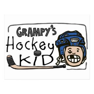 Grampy's Hockey Kid Postcard