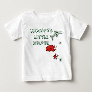 Grampy's little helper Lady bug cool hip custom Baby T-Shirt
