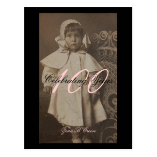 Grams 100th Birthday celebration Postcard