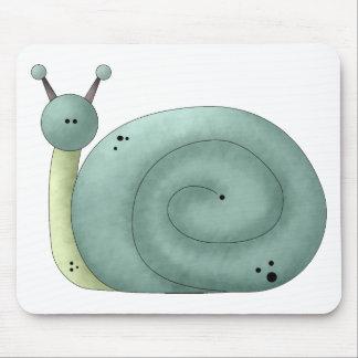 Gram's Garden · Blue Snail Mouse Pad