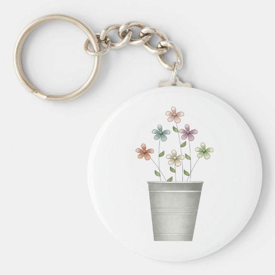 Gram's Garden · Flowers in Bucket Keychain