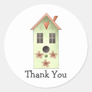 Gram's Garden · Green Birdhouse Classic Round Sticker