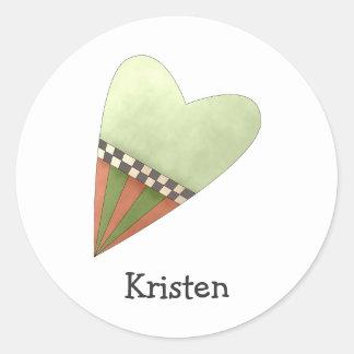 Gram's Garden · Green Heart Classic Round Sticker