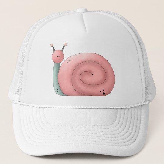 Gram's Garden · Pink Snail Trucker Hat