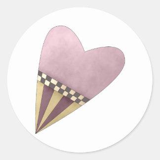 Gram's Garden · Purple Heart Classic Round Sticker