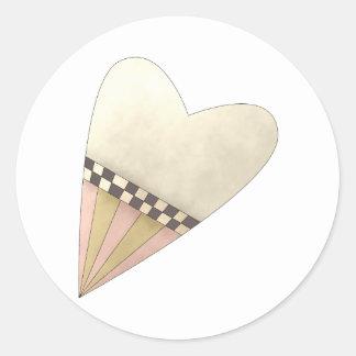 Gram's Garden · Yellow Heart Classic Round Sticker