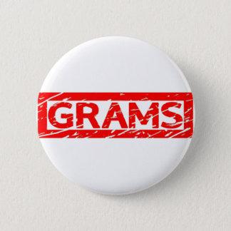 Grams Stamp Pinback Button