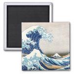 Gran 葛飾北斎の神奈川沖浪裏 de Hokusai de la onda Iman Para Frigorífico