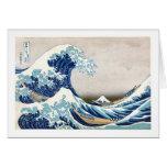 Gran 葛飾北斎の神奈川沖浪裏 de Hokusai de la onda Felicitación