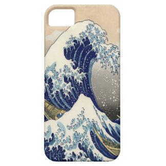 """Gran 葛飾北斎 """"神奈川沖浪裏"""" de la bella arte de la onda iPhone 5 carcasas"""
