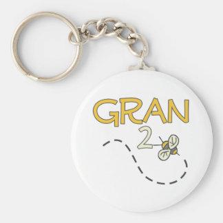 Gran 2 Bee Basic Round Button Keychain