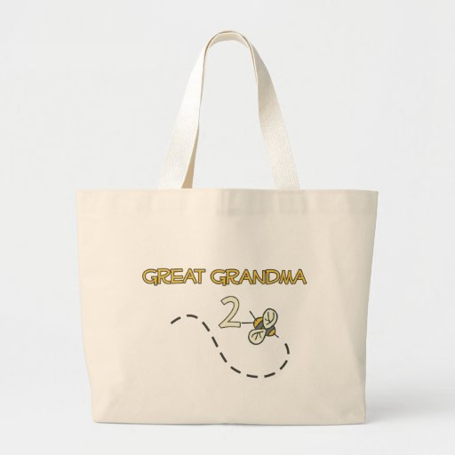 Gran abeja de la abuela 2 bolsa tela grande