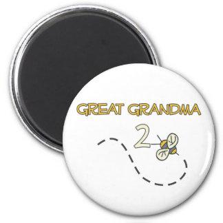 Gran abeja de la abuela 2 imán redondo 5 cm