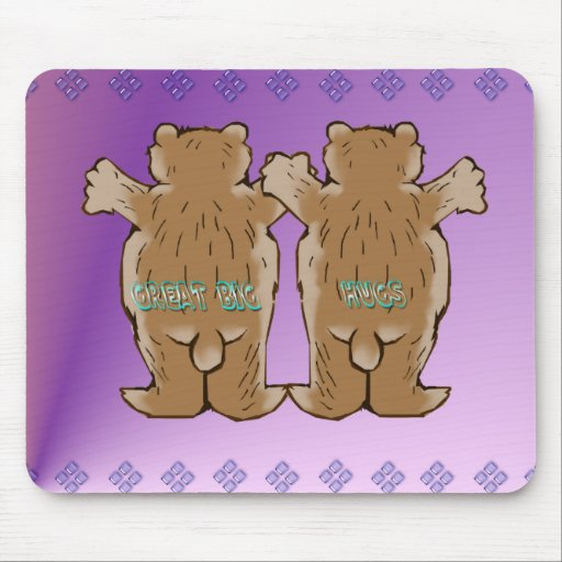 Gran abrazo grande Mousepad Tapete De Ratones