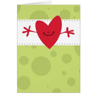Gran abrazo grande tarjeta de felicitación
