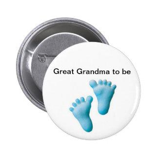 Gran abuela a ser pin redondo de 2 pulgadas