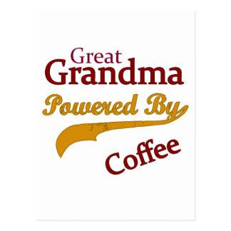 Gran abuela accionada por el café postal