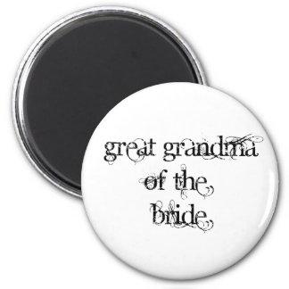 Gran abuela de la novia imán redondo 5 cm