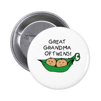 Gran abuela de la vaina de los gemelos pin redondo de 2 pulgadas