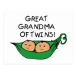 Gran abuela de la vaina de los gemelos postal