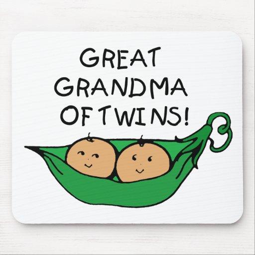 Gran abuela de la vaina de los gemelos tapete de raton