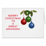 Gran abuela de las chucherías festivas tarjeta de felicitación