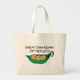 Gran abuela de tríos bolsa lienzo