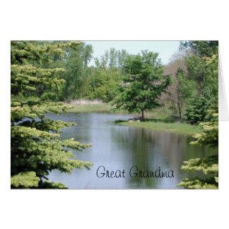 Gran abuela del feliz cumpleaños tarjeta de felicitación