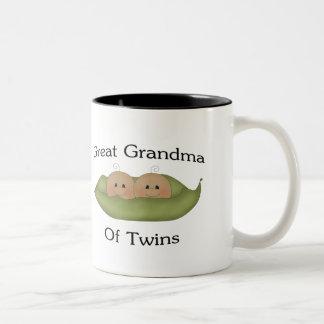 Gran abuela del gemelo tazas