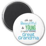 Gran abuela hermosa y joven imanes de nevera