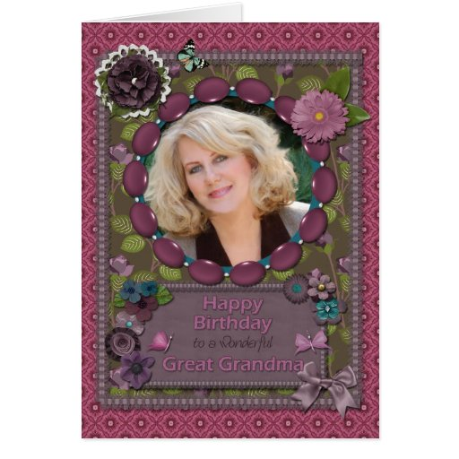 Gran abuela, tarjeta de la foto para un cumpleaños