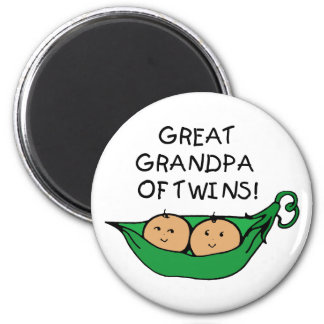 Gran abuelo de la vaina de los gemelos imán redondo 5 cm