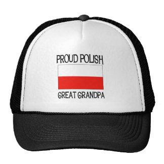 Gran abuelo polaco orgulloso gorros bordados