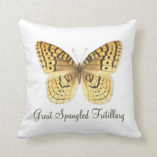 Gran almohada Spangled w Text de la mariposa del F