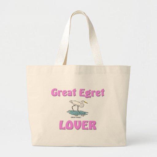 Gran amante del Egret Bolsa Lienzo