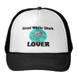 Gran amante del tiburón blanco gorros bordados