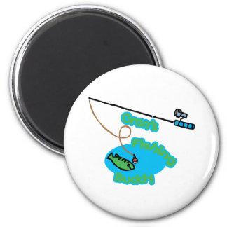 Gran's Fishing Buddy 2 Inch Round Magnet