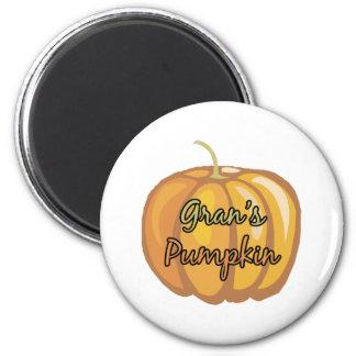 Gran's Pumpkin 2 Inch Round Magnet
