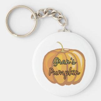Gran's Pumpkin Basic Round Button Keychain