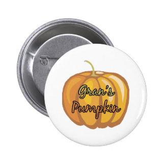 Gran's Pumpkin Pinback Button