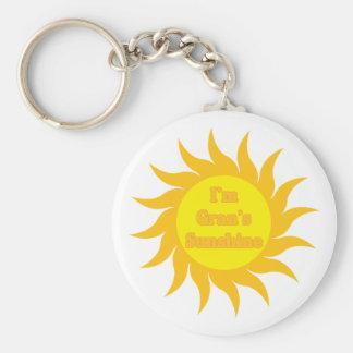 Gran's Sunshine Basic Round Button Keychain
