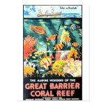 Gran arrecife de coral de la barrera tarjeta postal