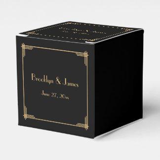 Gran art déco negro de Gatsby que casa las cajas Cajas Para Detalles De Boda