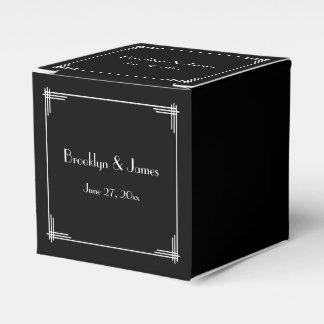 Gran art déco negro de Gatsby que casa las cajas Cajas Para Regalos