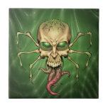 Gran arte extranjero de Lovecraftian del cráneo de Azulejo