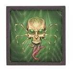 Gran arte extranjero de Lovecraftian del cráneo de Caja De Regalo De Calidad