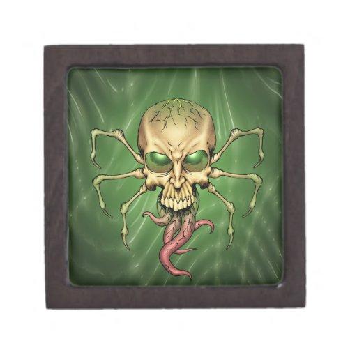 Gran arte extranjero de Lovecraftian del cráneo de Cajas De Joyas De Calidad