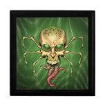 Gran arte extranjero de Lovecraftian del cráneo de Caja De Regalo
