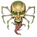 Gran arte extranjero de Lovecraftian del cráneo de Escultura Fotografica