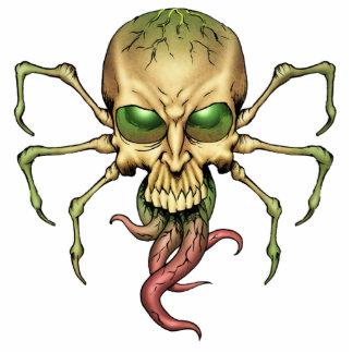Gran arte extranjero de Lovecraftian del cráneo de Fotoescultura Vertical